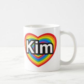 I love Kim. I love you Kim. Heart Coffee Mugs