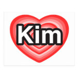 I love Kim. I love you Kim. Heart Post Card