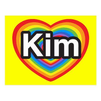 I love Kim. I love you Kim. Heart Postcard