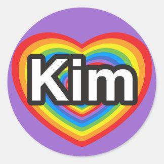 I love Kim. I love you Kim. Heart Sticker
