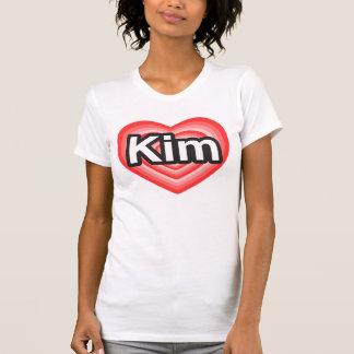 I love Kim. I love you Kim. Heart Shirt