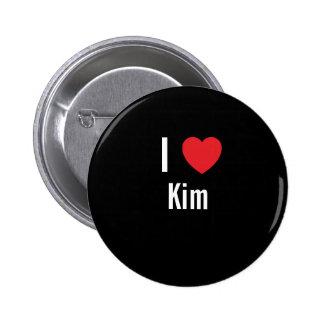 I love Kim Pinback Button