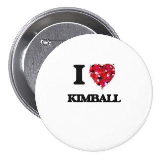 I love Kimball Massachusetts 3 Inch Round Button