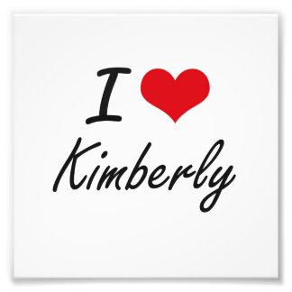 I Love Kimberly artistic design Photo Print