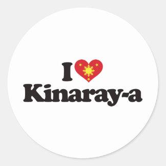 I Love Kinaray-a Classic Round Sticker