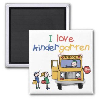 I Love Kindergarten 2 Inch Square Magnet