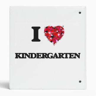 I Love Kindergarten 3 Ring Binder