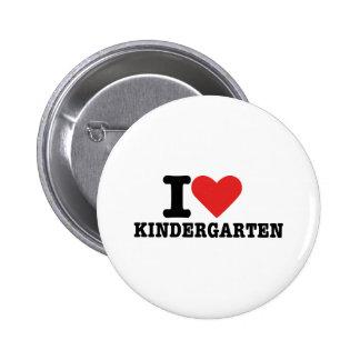 I love kindergarten pinback button