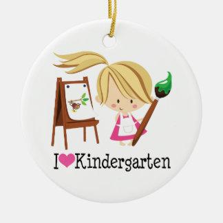I Love Kindergarten Gift Ceramic Ornament