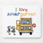 I Love Kindergarten Mouse Pad