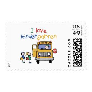I Love Kindergarten Stamp