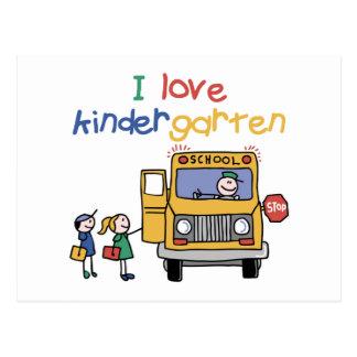 I Love Kindergarten Postcard