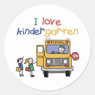I Love Kindergarten Stickers