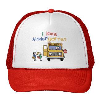 I Love Kindergarten Trucker Hat