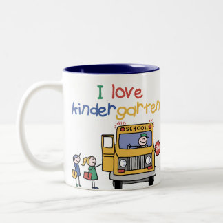 I Love Kindergarten Two-Tone Coffee Mug