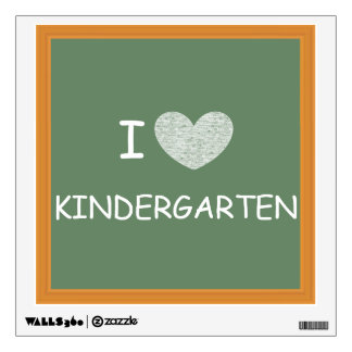 I Love Kindergarten Wall Sticker