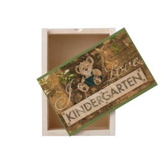 I Love Kindergarten Wooden Keepsake Box