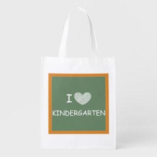 I Love Kindergarten Reusable Grocery Bag