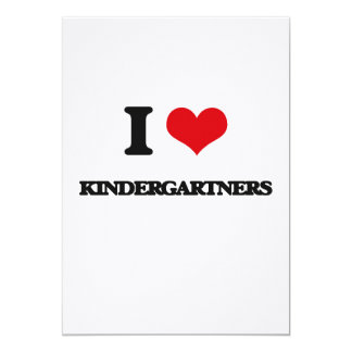I Love Kindergartners 5x7 Paper Invitation Card