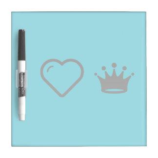 I Love King Crowns Dry Erase Boards