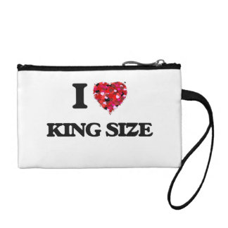 I Love King Size Coin Wallets