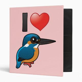I Love Kingfishers 3 Ring Binders