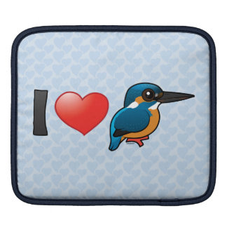 I Love Kingfishers iPad Sleeve