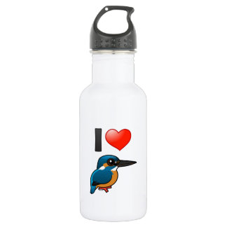 I Love Kingfishers Water Bottle