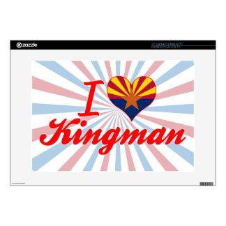 "I Love Kingman, Arizona Decal For 15"" Laptop"