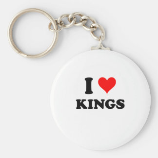 I Love Kings Massachusetts Keychain