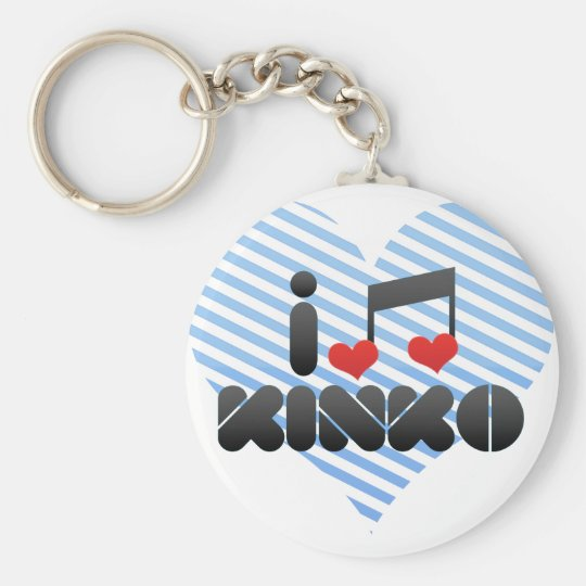 I Love Kinko Keychain