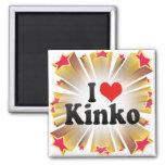 I Love Kinko Refrigerator Magnet