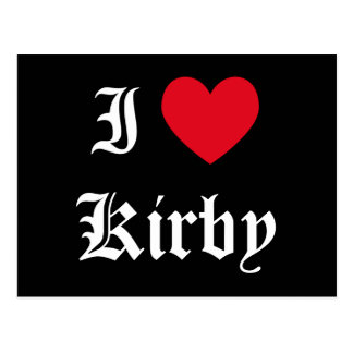 I Love Kirby Postcard