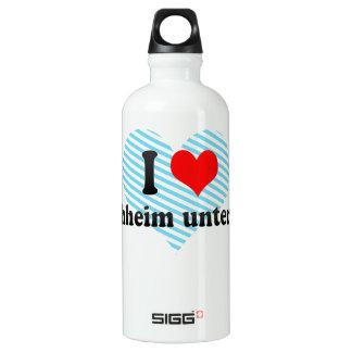 I Love Kirchheim unter Teck, Germany Aluminum Water Bottle