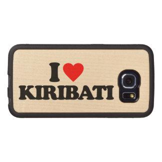 I LOVE KIRIBATI WOOD PHONE CASE