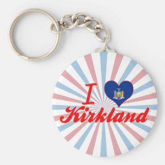 I Love Kirkland New York Keychains