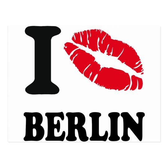 I love kiss heart BERLIN Postcard