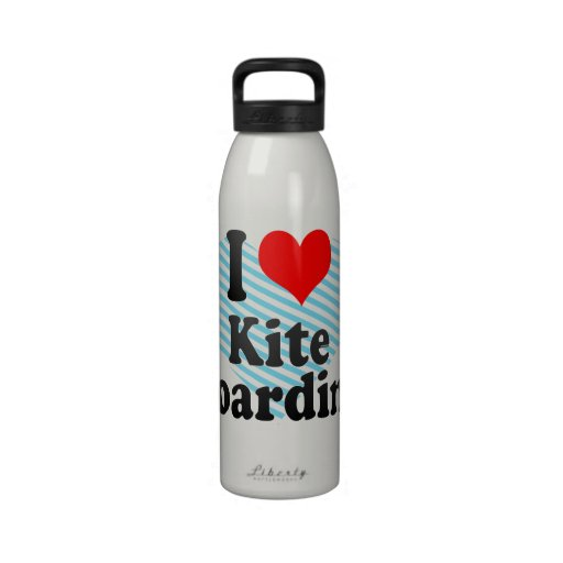 I love Kite Boarding Water Bottle