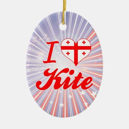 I Love Kite, Georgia Ornament