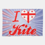 I Love Kite, Georgia Towels