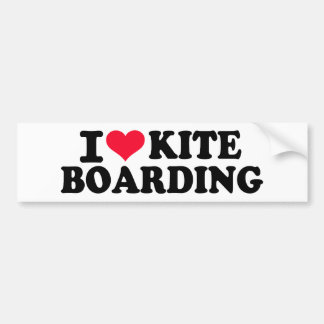 I love Kiteboarding Bumper Stickers