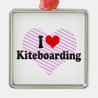 I love Kiteboarding Metal Ornament