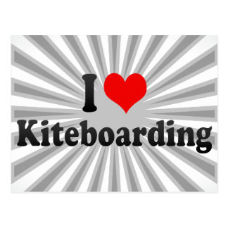 I love Kiteboarding Postcard