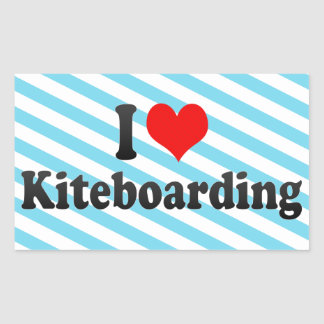 I love Kiteboarding Rectangular Sticker