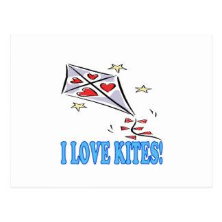 I Love Kites 2 Postcard
