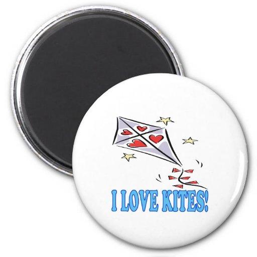 I Love Kites 2 Refrigerator Magnet