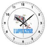 I Love Kites 2 Wall Clock
