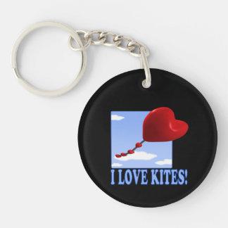 I Love Kites Keychain