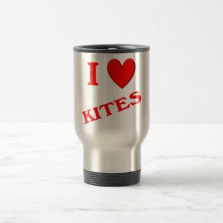 I Love Kites 15 Oz Stainless Steel Travel Mug