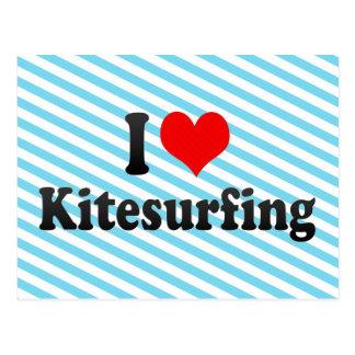 I love Kitesurfing Postcard